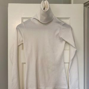 Nasty Gal white ribbed turtle neck
